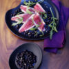 Tuna-Carpaccio-with-Wild-Blueberry-Wasabi-Sauce