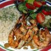 grilling seafood shrimp